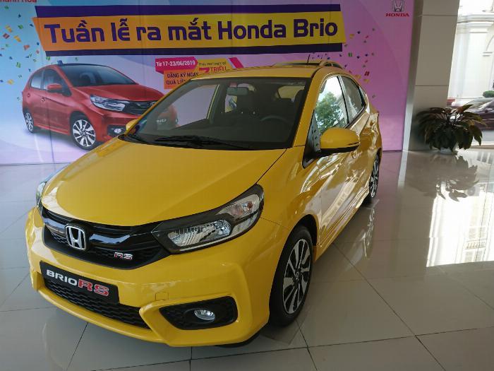Honda Ô tô Thanh Hóa, Giao Ngay Honda Brio 1.2 Đời 2019, Màu Vàng, Giảm Giá Cực Sốc, LH: 09622028368