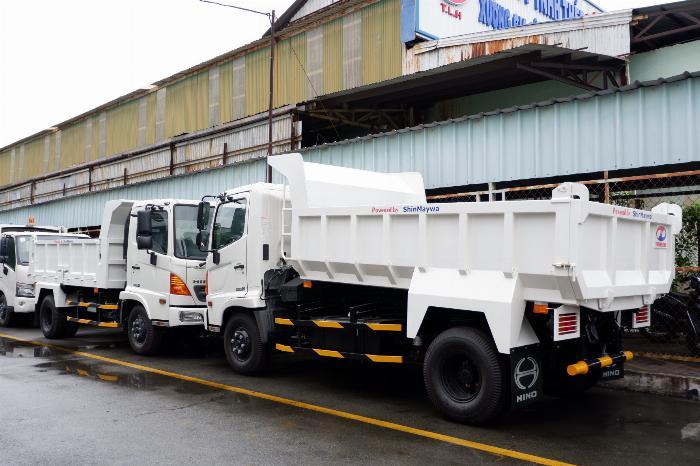Xe Ben Hino Thùng 4 Khối 8 Vay 80% LS thấp Kèm Ưu Đãi, Ben nâng SHINMAYWA (Nhật Bản), tải 6 tấn, FC9JETC E4 4