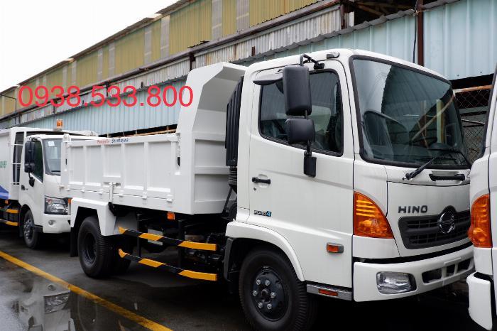Xe Ben Hino Thùng 4 Khối 8 Vay 80% LS thấp Kèm Ưu Đãi, Ben nâng SHINMAYWA (Nhật Bản), tải 6 tấn, FC9JETC E4 2