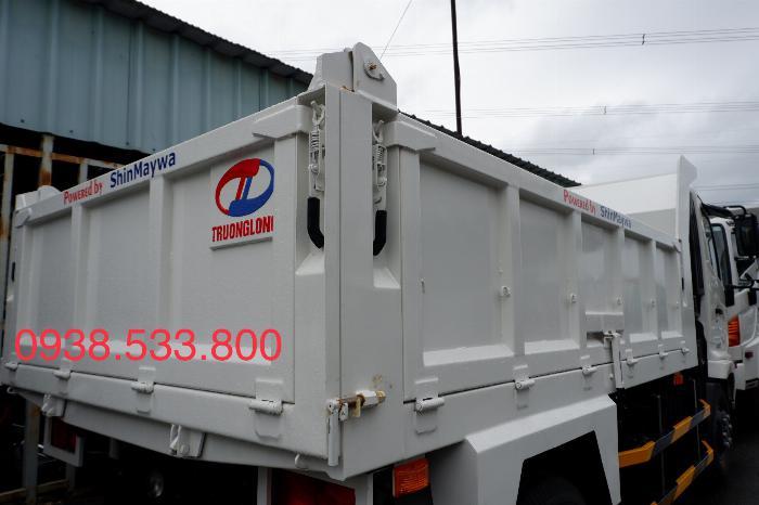 Xe Ben Hino Thùng 4 Khối 8 Vay 80% LS thấp Kèm Ưu Đãi, Ben nâng SHINMAYWA (Nhật Bản), tải 6 tấn, FC9JETC E4 11