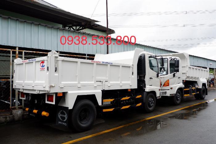 Xe Ben Hino Thùng 4 Khối 8 Vay 80% LS thấp Kèm Ưu Đãi, Ben nâng SHINMAYWA (Nhật Bản), tải 6 tấn, FC9JETC E4 3