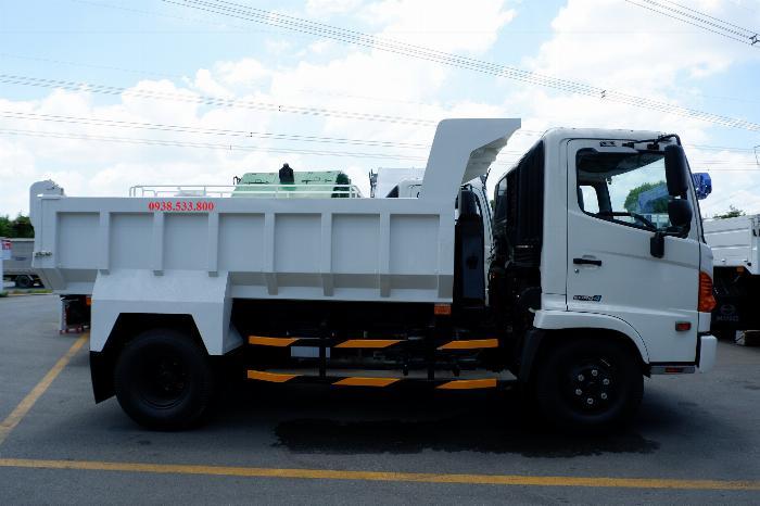 Xe Ben Hino Thùng 4 Khối 8 Vay 80% LS thấp Kèm Ưu Đãi, Ben nâng SHINMAYWA (Nhật Bản), tải 6 tấn, FC9JETC E4 15