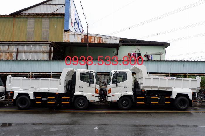 Xe Ben Hino Thùng 4 Khối 8 Vay 80% LS thấp Kèm Ưu Đãi, Ben nâng SHINMAYWA (Nhật Bản), tải 6 tấn, FC9JETC E4 17