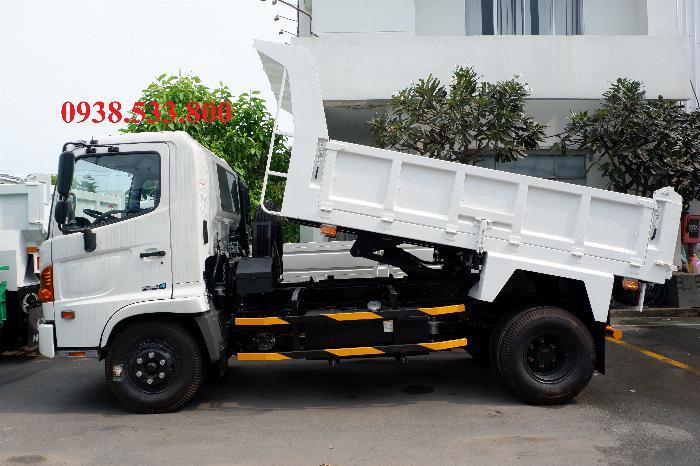 Xe Ben Hino Thùng 4 Khối Kèm Ưu Đãi, Ben nâng SHINMAYWA (Nhật Bản), tải 6 tấn 3, Hino FC9JETC E4