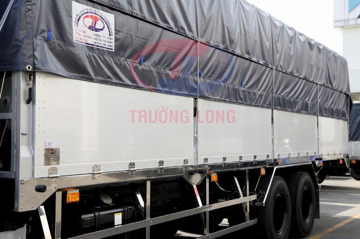 Xe Mui Bạt HINO 3 Chân Bửng NHÔM Nhật Kèm Ưu Đãi, Thùng Dài 9.360 mm, Tải Hàng 14.450 Kg, Hino 500 FL8JW7A
