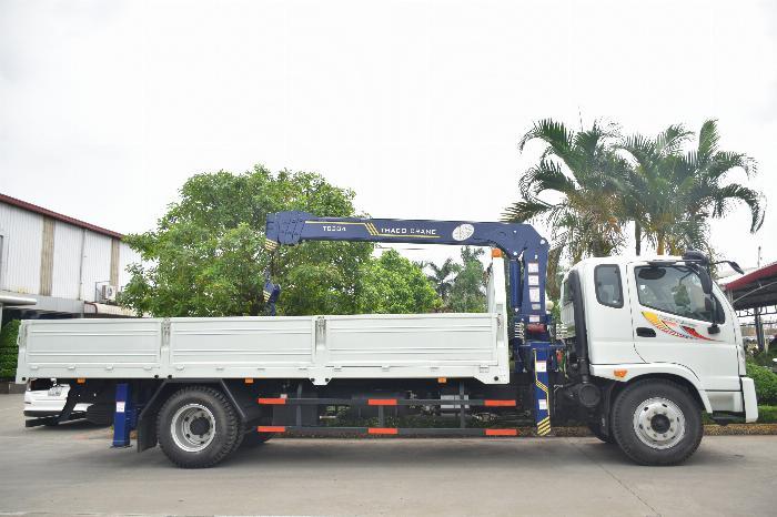 Xe tải cẩu 9 tấn Thaco Ollin 900B gắn cẩu SooSung 3 tấn 4 đốt, tải trọng 6.4 tấn