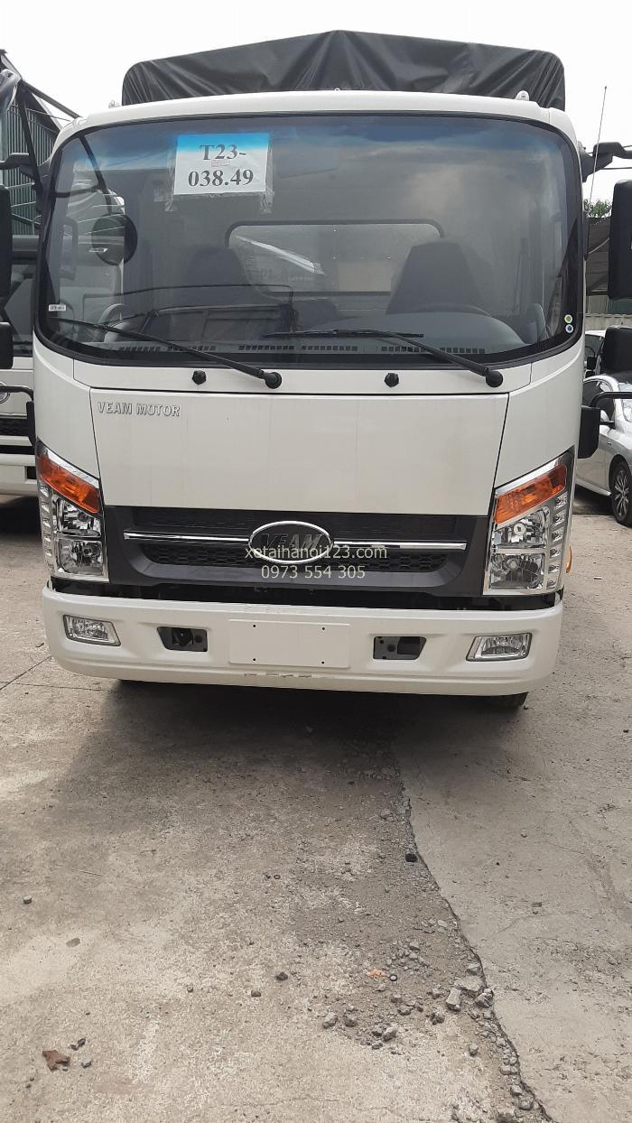 Xe tải Veam 3.5 tấn, máy Isuzu, thùng dài 6m, cabin như xe du lịch