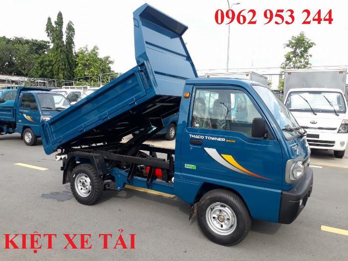 Xe tải thaco Towner 800 thùng ben nhỏ tải 750kg chuyên chở cát đá sỏi vật liệu xây dựng