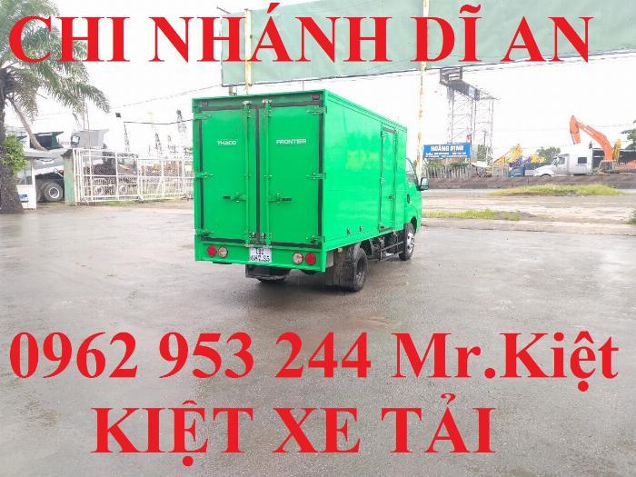 Xe tải thaco KIA K250 thùng kín sơn màu theo yêu cầu đời 2019 hỗ trợ trả góp 80%. 3