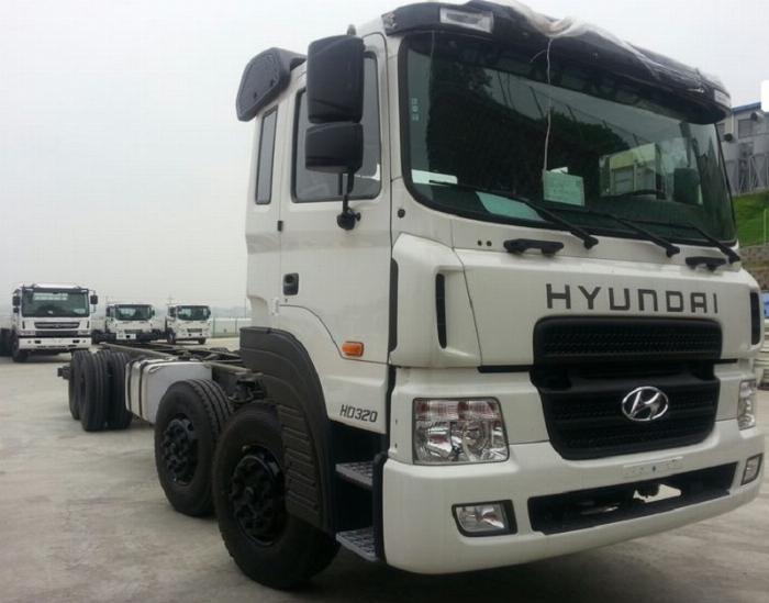 Chassi Xe Tải Nặng Hyundai HD320 - Tải Trọng 19T