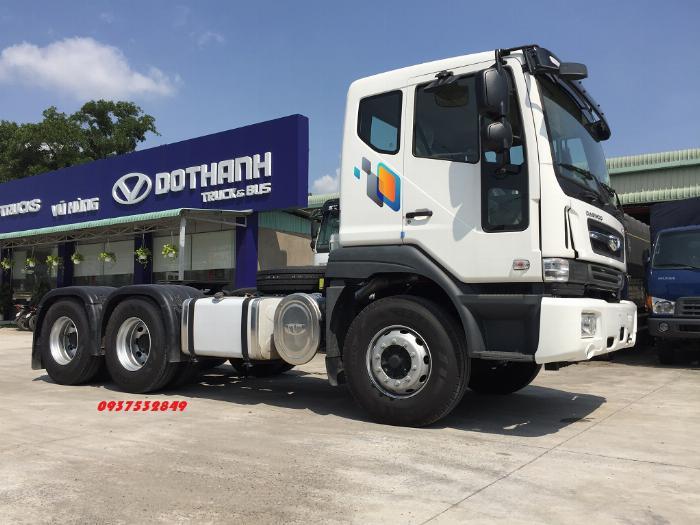 Xe đầu kéo daewoo 2 cầu 40 tấn mới nhất nhập khẩu nguyên chiếc giá tốt 0