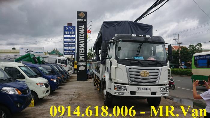 Xe tải FAW 7T25, thùng dài 9m7, xe nhập khẩu, siêu bền siêu tiết kiệm.