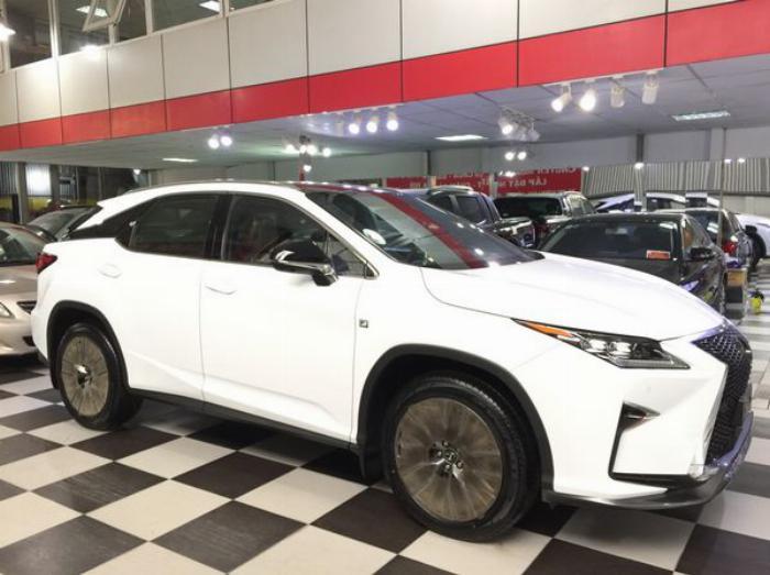 Bán Lexus RX350 F-Sport 2019 màu trắng nội thất đỏ Full Option