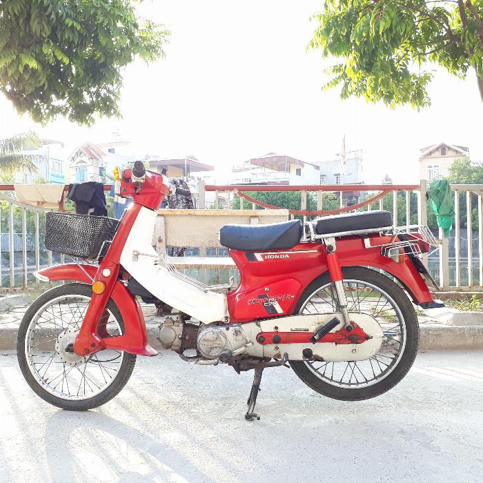 Cub DD Honda màu đỏ Nhật xe nguyên bản biển Hà Nội 1