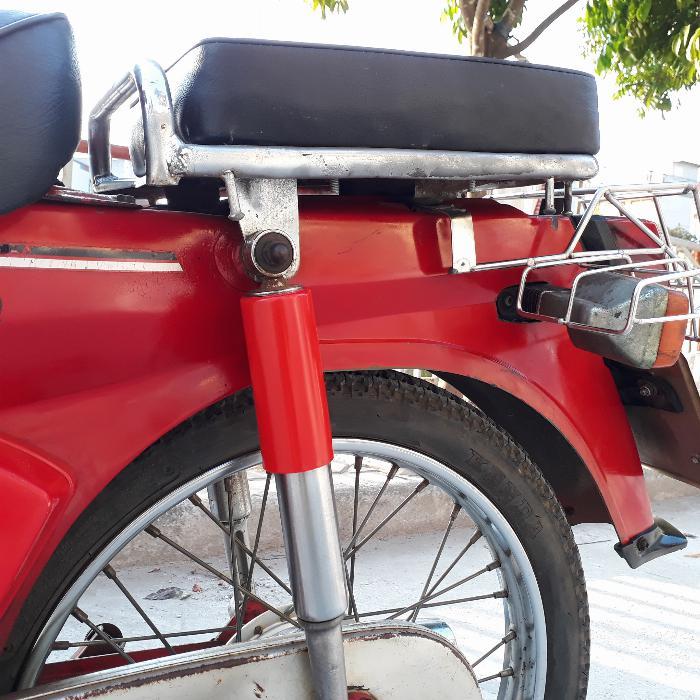 Cub DD Honda màu đỏ Nhật xe nguyên bản biển Hà Nội 2
