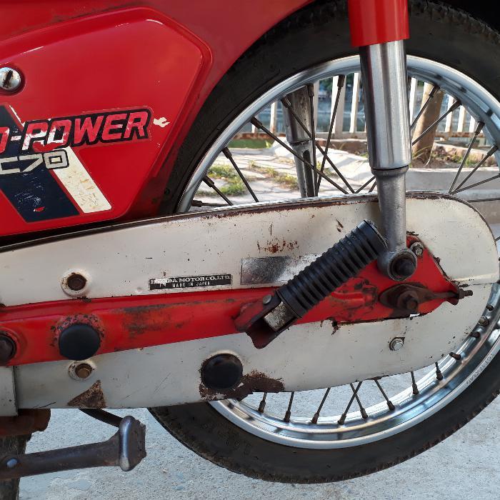 Cub DD Honda màu đỏ Nhật xe nguyên bản biển Hà Nội 3