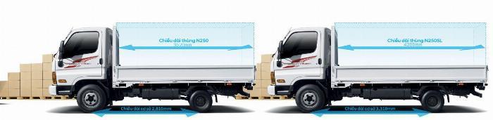 Hyundai 2 tấn 5 thùng 4m3 giá tốt trong tháng