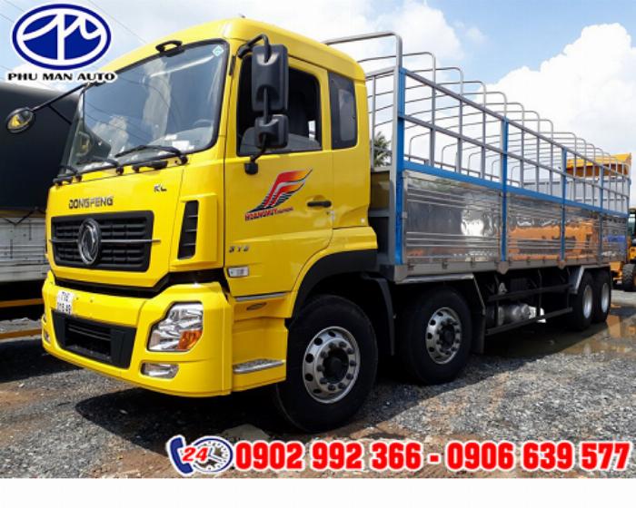 Xe tải 8 tấn dongfeng B180 thùng dài - Xe tải Dongfeng B180 thùng dài 9m5 -  Xe hàng thùng kín 8 tấn