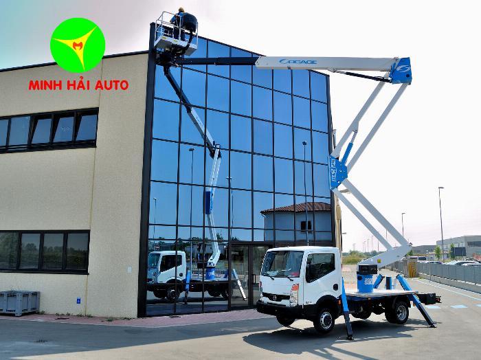 Giá ô tô nâng người 24m sửa chữa điện|Xe cẩu nâng người làm việc trên cao