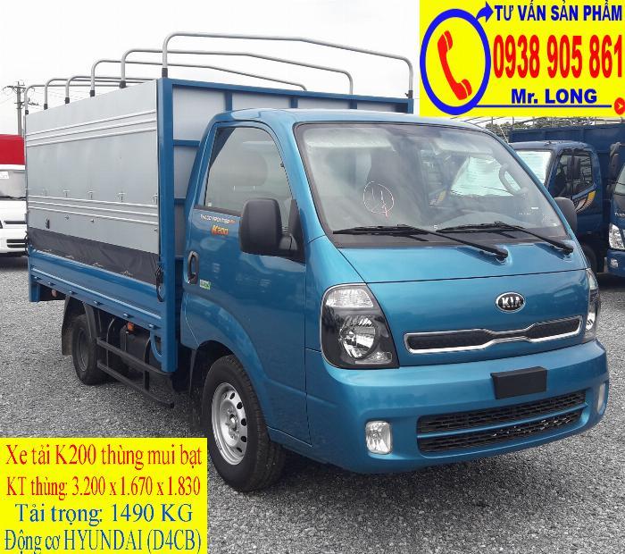 Xe tải KIA FRONTIER K200 tải trọng 1 tấn 4 mới 100% trả góp 70% tại Đà Nẵng