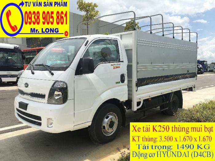 Xe tải FRONTIER KIA K250 tải trọng 1 tấn 4 mới 100% trả góp 70% tại Đà Nẵng