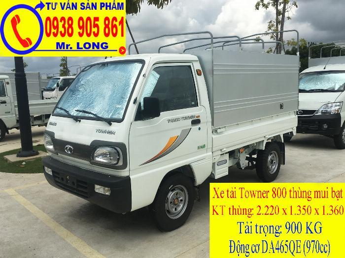 Xe tải Towner 800 tải trọng 500kg mới 100% trả góp 70% tại Đà Nẵng