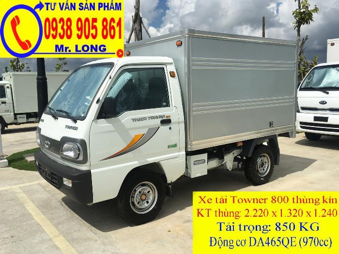 Xe tải Towner 800 tải trọng 500kg mới 100% trả góp 70% tại Đà Nẵng 3