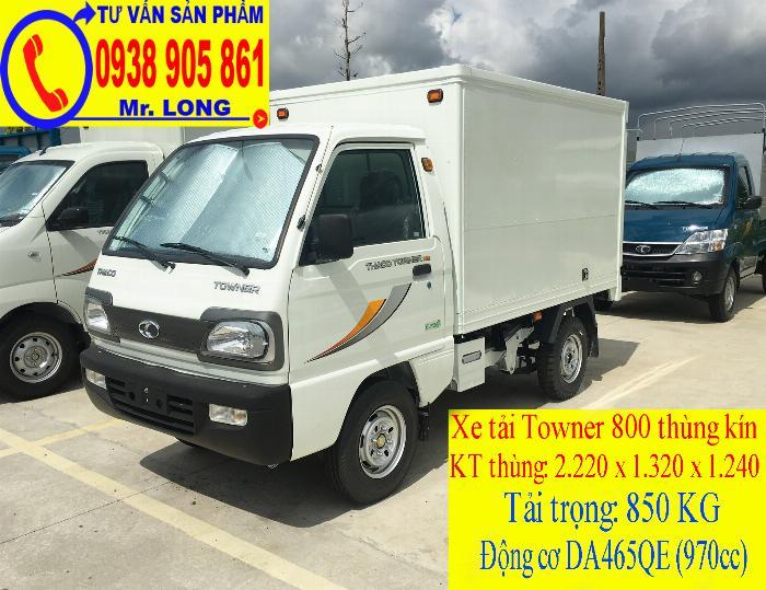 Xe tải Towner 800 tải trọng 500kg mới 100% trả góp 70% tại Đà Nẵng 4