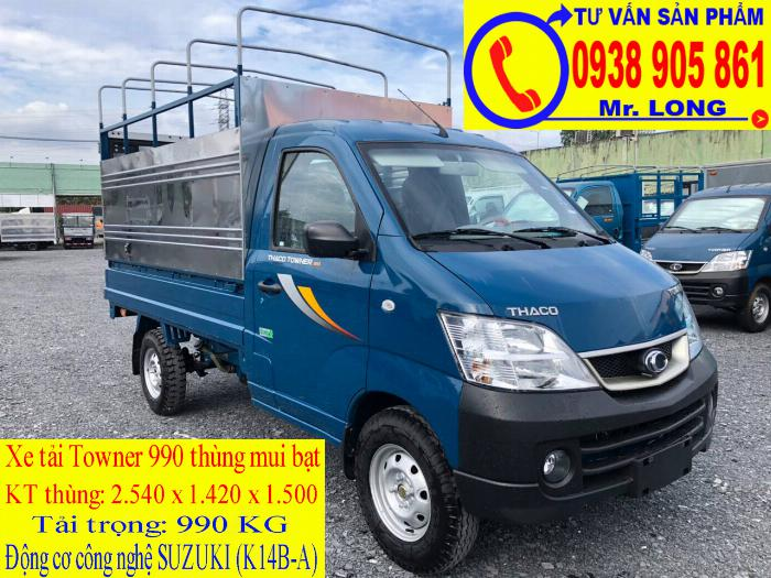 Xe tải Towner 990 tải trọng 990 kg mới 100% trả góp 70% tại Đà Nẵng