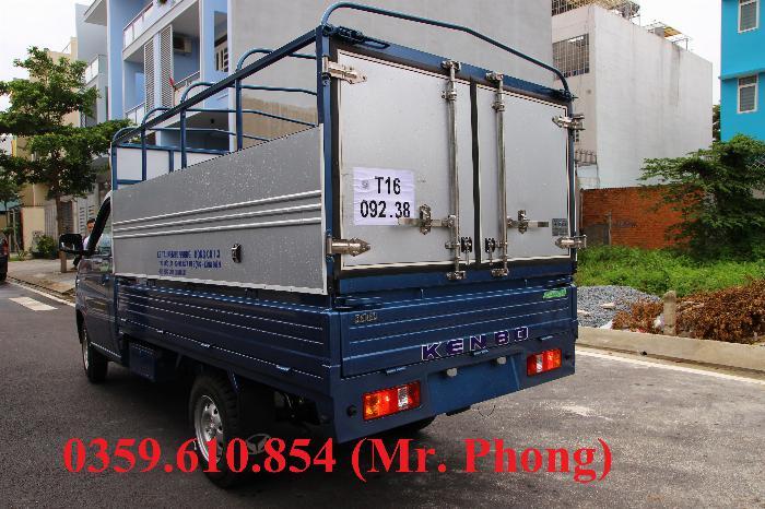 XE TẢI NHỎ KENBO 990kg THÙNG BẠT DÀI 2.6M, TRẢ TRƯỚC 60 TRIỆU NHẬN XE 5