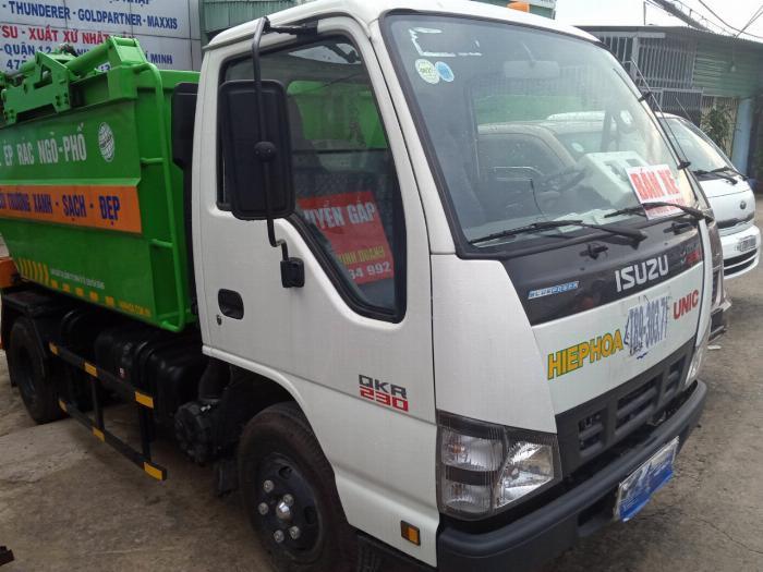 Bán xe ô tô chở rác isuzu 2018