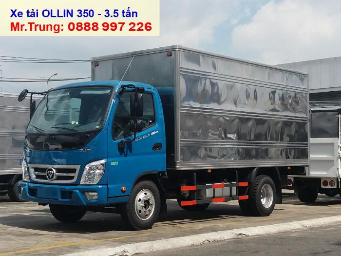 Báo giá xe tải Thaco OLLIN 350 | tải 3.5 tấn thùng dài 4.35 mét giá tốt tại HCM-LA