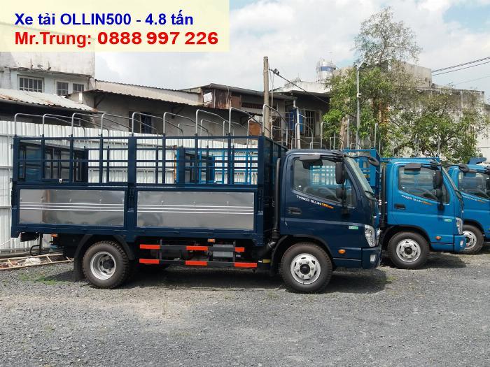 Báo giá xe tải Thaco OLLIN 500 | Tải 5 tấn thùng dài 4.35 mét tại HCM-LA