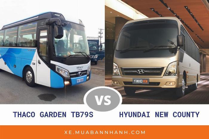 So sánh xe New County 29 chỗ và xe Thaco Garden 79S
