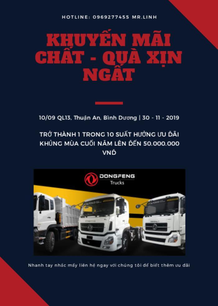 Bán xe tải Dongfeng phiên bản 8 tấn thùng 9.5M giá 890Tr 0