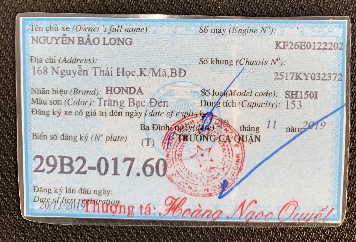 Cần bán SH Việt 150 ABS 20/11/2019 màu Trắng chạy 400km như mới