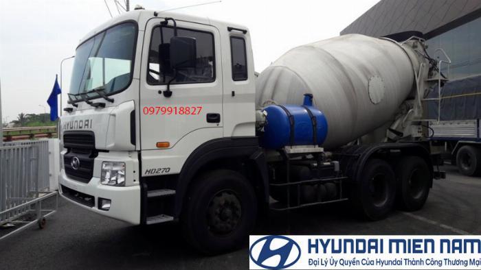 Xe Hyundai Bồn trộn bê tông