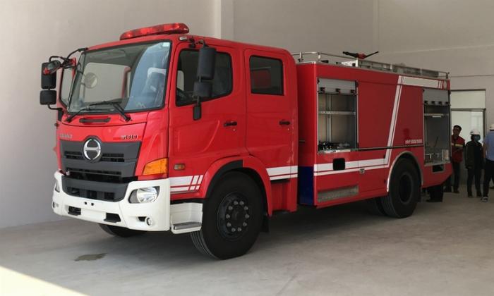 bán xe cứu hỏa, xe chữa cháy hino fg 6 khối