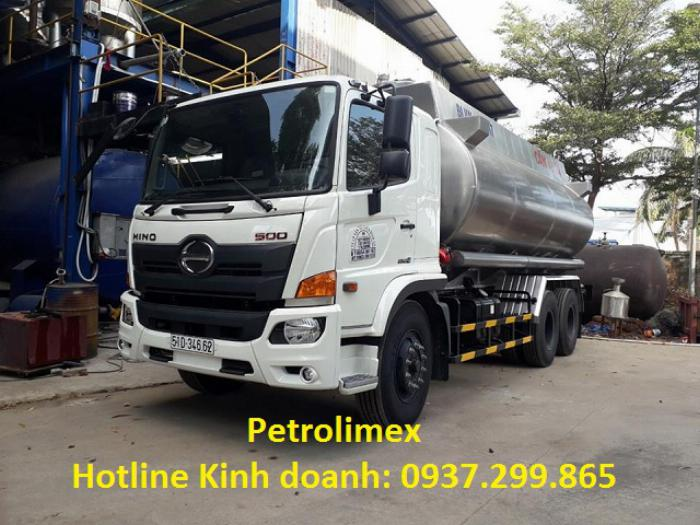 Bán xe bồn Hino 20 khối FM 2020 chở xăng dầu uy tín TPHCM