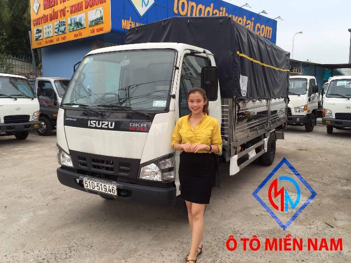 Xe tải Isuzu QKR77HE4 tải 1,9 tấn và 2,9 tấn, thùng mui bạt dài 4m3 0