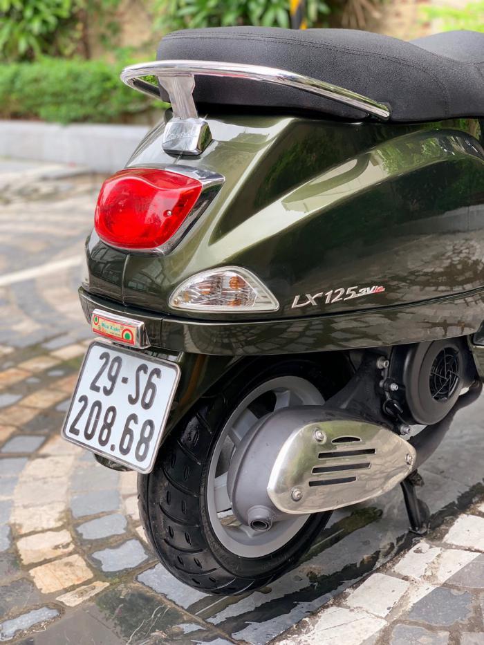 Cần bán Vespa LX 3Vie 2014 màu Xanh rêu thời trang cực chất- Biển Vip 3