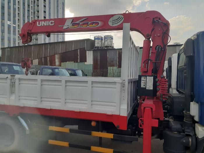 Giá xe tải Hyundai New mighty 110S tải 7 tấn gắn cẩu UNIC UR-V344 3 Tấn 4 Khúc 4