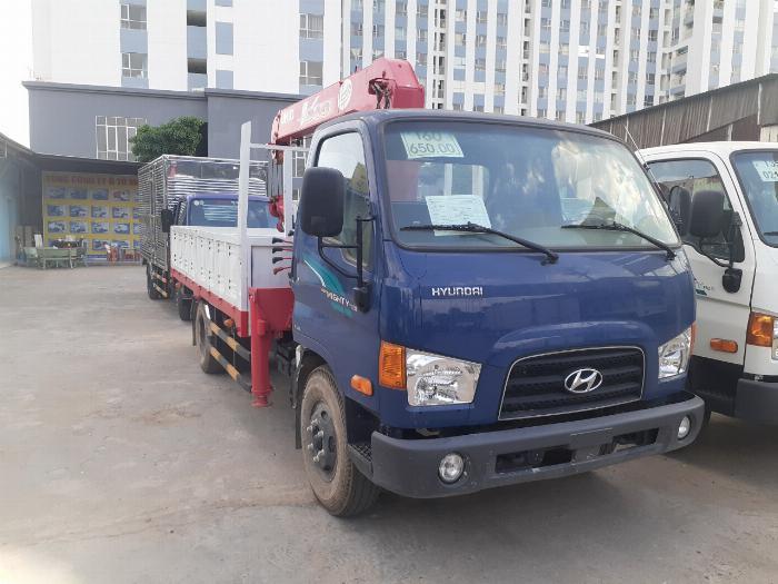 Giá xe tải Hyundai New mighty 110S tải 7 tấn gắn cẩu UNIC UR-V344 3 Tấn 4 Khúc 5