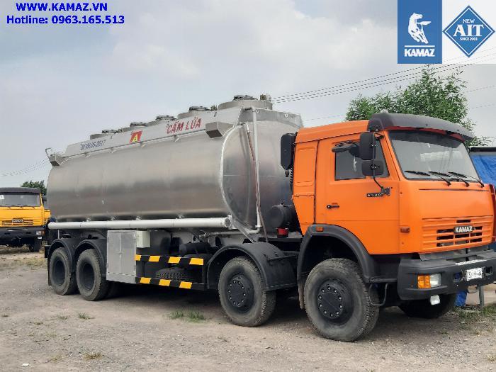 Xe bồn xăng dầu 25 khối, xe chở xăng dầu 25 khối, xe xăng kamaz 25 khối, xe bồn xăng dầu kamaz 2