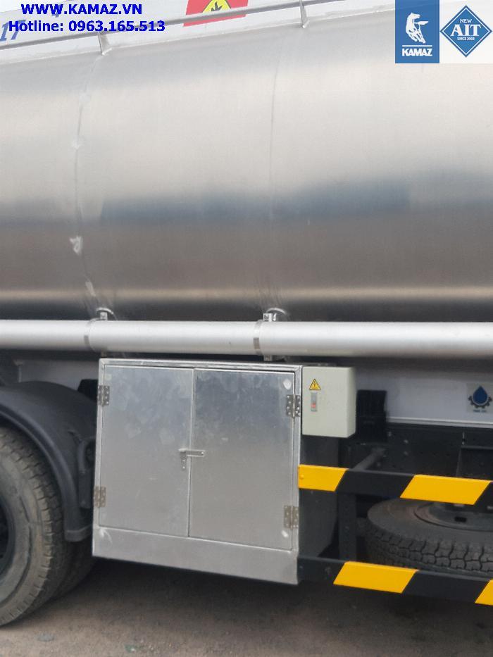 Xe bồn xăng dầu 25 khối, xe chở xăng dầu 25 khối, xe xăng kamaz 25 khối, xe bồn xăng dầu kamaz 3