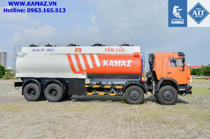 Xe bồn chở xăng dầu 23 khối, xe bồn xăng dầu kamaz 4 chân 23 khối, xe bồn kamaz 2
