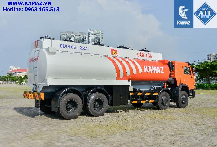 Xe bồn chở xăng dầu 23 khối, xe bồn xăng dầu kamaz 4 chân 23 khối, xe bồn kamaz 3