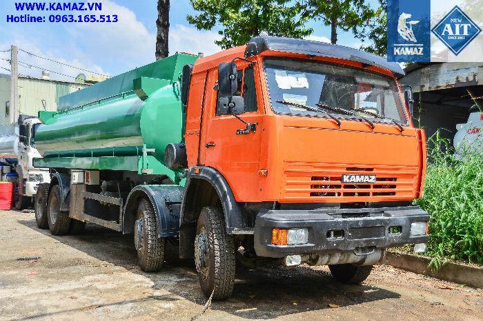 Xe bồn chở xăng dầu 23 khối, xe bồn xăng dầu kamaz 4 chân 23 khối, xe bồn kamaz 4