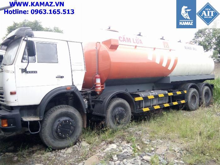 Xe bồn chở xăng dầu 23 khối, xe bồn xăng dầu kamaz 4 chân 23 khối, xe bồn kamaz 5