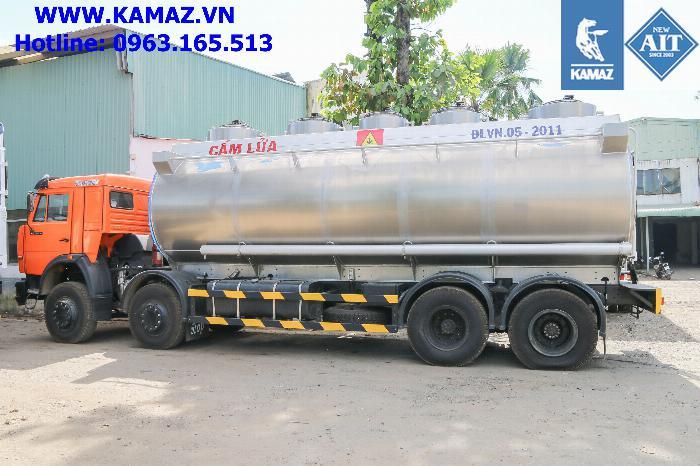 Xe bồn xăng dầu 25 khối, xe chở xăng dầu 25 khối, xe xăng kamaz 25 khối, xe bồn xăng dầu kamaz 5